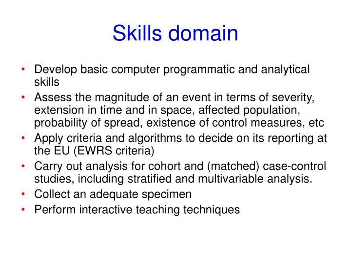 Skills domain