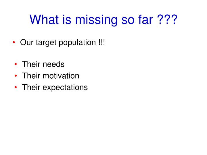 Our target population !!!