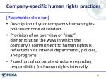 company specific human rights practices