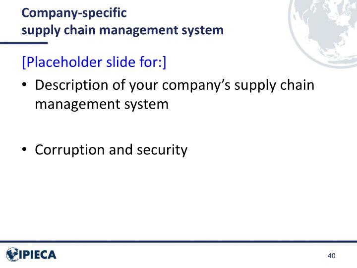 Company-specific