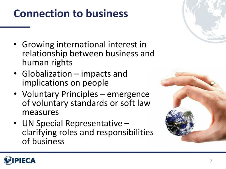 Connection to business