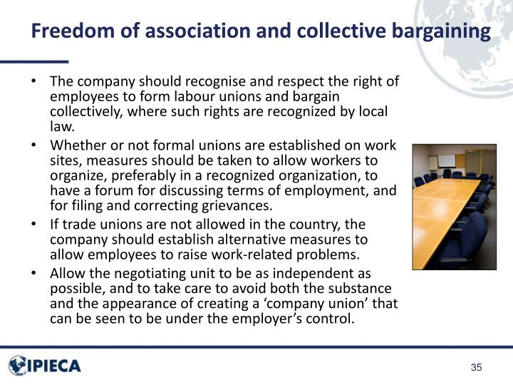 Freedom of association and collective bargaining