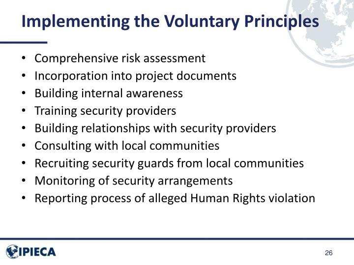 Implementing the Voluntary Principles