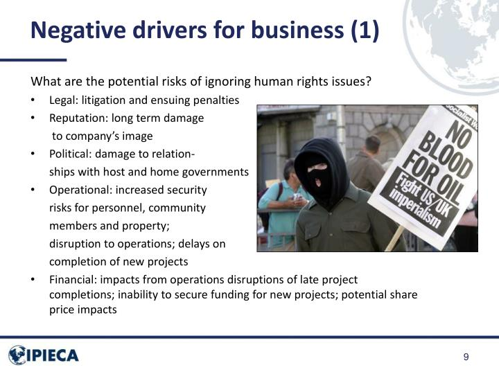 Negative drivers for business (1)
