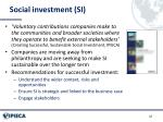social investment si