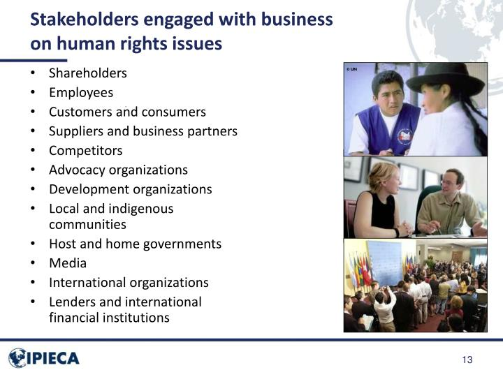 Stakeholders engaged with business