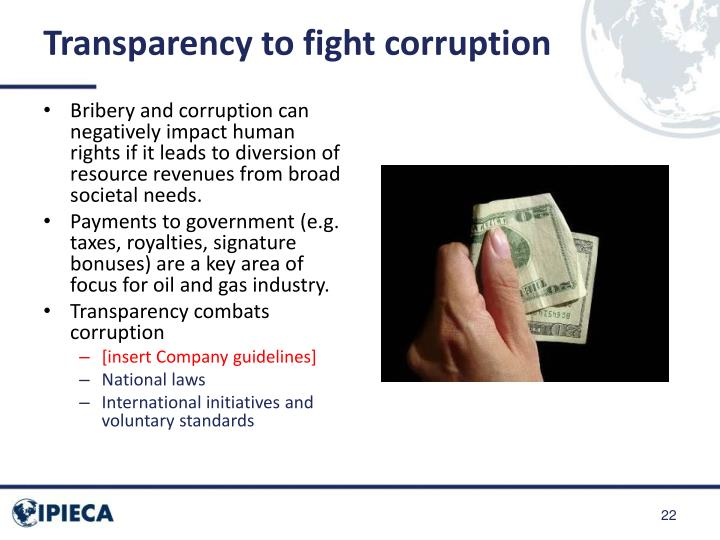 Transparency to fight corruption