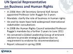 un special representative on business and human rights