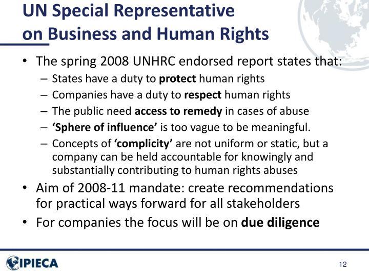 UN Special Representative