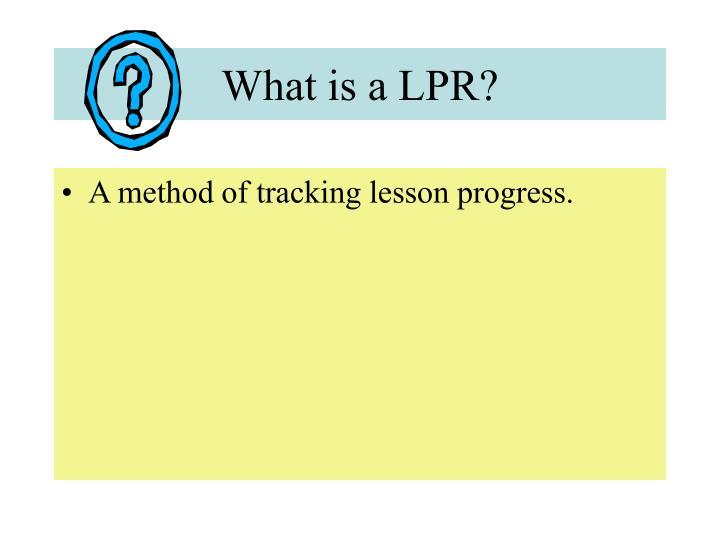 What is a lpr