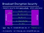 broadcast encryption security