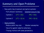 summary and open problems