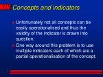 concepts and indicators1