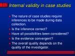 internal validity in case studies