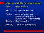 internal validity in case studies1