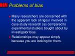 problems of bias