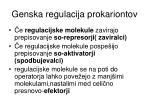 genska regulacija prokariontov