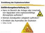 ermittlung der explosionsrisiken