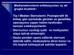 mediansternotomi enfeksiyonlar alt grupta incelenir