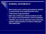 sternal osteomyel t
