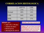 correlacion histologica