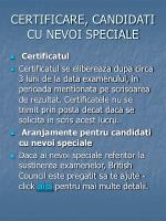 certificare candidati cu nevoi speciale
