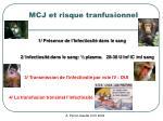 mcj et risque tranfusionnel