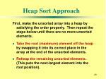 heap sort approach