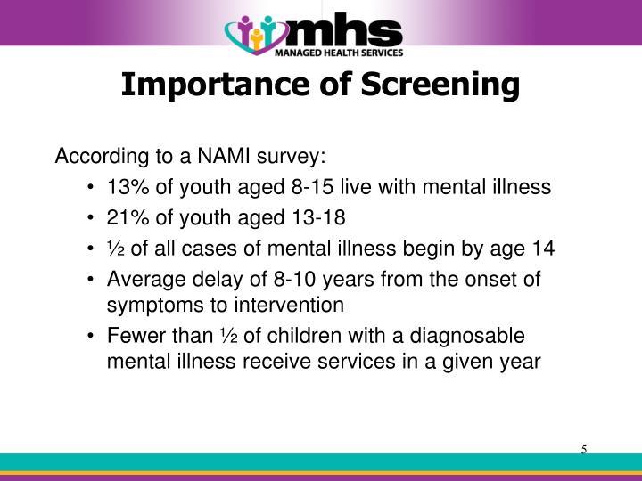 Importance of Screening