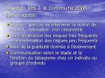 aspects li s la communication des risques