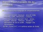 aspects psychologiques li s au maintient