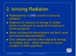 2 ionizing radiation