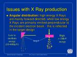 issues with x ray production