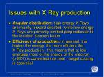 issues with x ray production1