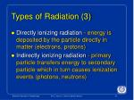 types of radiation 3