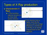 types of x ray production