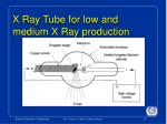 x ray tube for low and medium x ray production