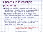 hazards in instruction pipelining