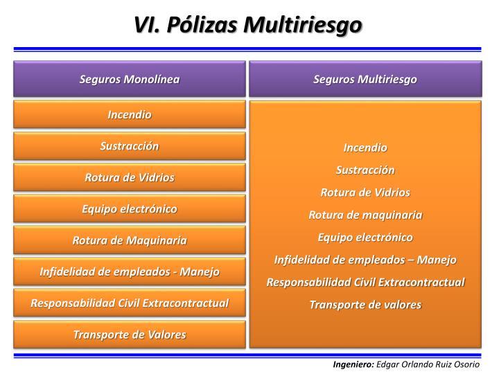 VI. Pólizas Multiriesgo