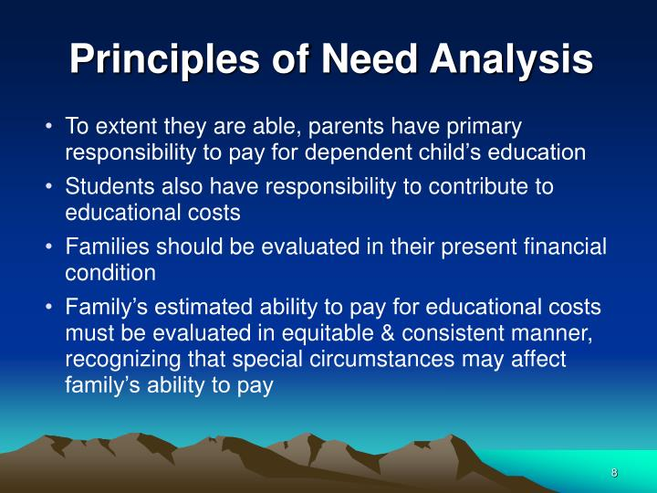 Principles of Need Analysis
