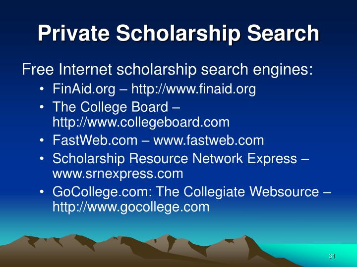 Private Scholarship Search