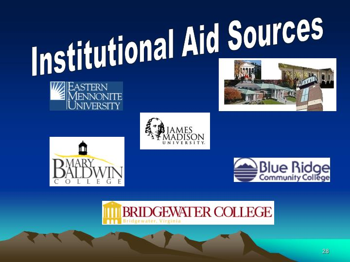 Institutional Aid Sources