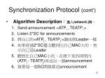 synchronization protocol cont