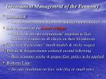 government management of the economy