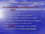 protecting worker safety and health
