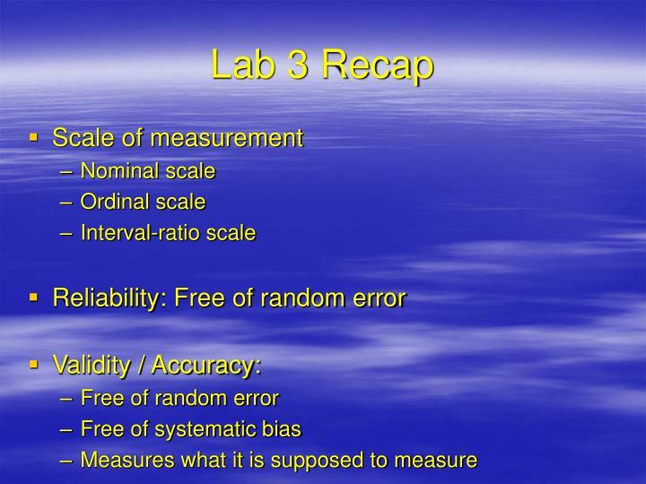 Lab 3 Recap