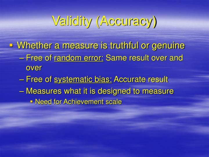 Validity (Accuracy)