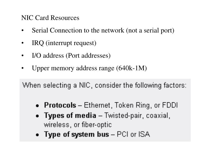 NIC Card Resources