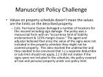manuscript policy challenge