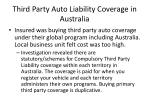 third party auto liability coverage in australia
